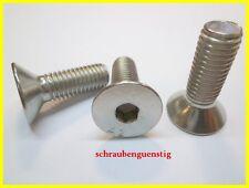Gewindeschrauben M8 x 55 mm Senkkopfschrauben mit Innensechskant - DIN 7991 rostfrei 40 St/ück Edelstahl A2 V2A Vollgewinde ISO 10642 Senkkopf Schrauben Eisenwaren2000