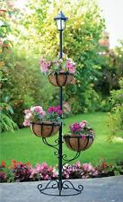 NEW 3 TIER PLANT STAND GARDEN STYLISH SOLAR POWERED OUTDOOR FLOWER PLANTER