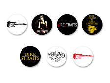 Lot Pack Badge Button Ø25mm Dire Straits Rock UK Knopfler
