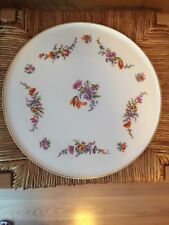 """Erphila Art Pottery Floral Cake Dessert Plate 11 1/4"""" Made In Germany"""