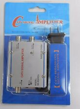 CATV 2-Way Cable TV Signal Booster Amplifier Splitter 20dB