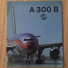 AIRBUS A300 PROMO BROCHURE 1970s VINTAGE CUTAWAY