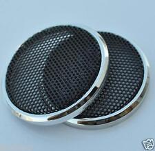"2pcs 1"" inch 21# Tweeter Audio Decorative Circle Speaker Cover Metal Mesh Grill"