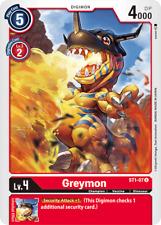 Digimon Card Game Greymon ST1-07 Uncommon