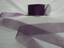 Organza Aubergine  Ribbon 50mm x 5 mts