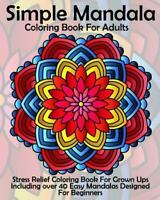 Simple Mandala Coloring Book for Adults, Paperback, Like New Used, Free shipp...