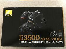 Nikon D3500 24.2MP DSLR Camera w AF-P DX 18-55mm VR Lens Kit - Black *BRAND NEW*