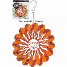 """6""""/15cm SUNBURST Stainless Steel Wind Spinner Sun Catcher Hook Garden Gift Pack"""