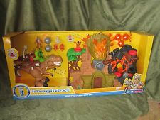 New Fisher-Price Imaginext Dino Fortress Gift Set Volcano Dinosaur t rex sounds