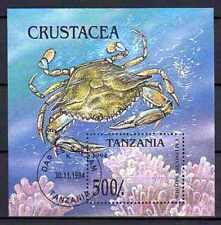 Animaux Crustacés Tanzanie (42) bloc oblitéré
