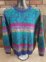 Vintage LORD & TAYLOR Multicolor Womens Sweater Size XXL Ugly Sweatshirt