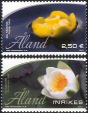 Aland 2013 Water Lilies/Lily/Aquatic Plants/Flowers/Nature 2v set (af1025)