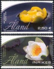 Lirio de Aland 2013 Nenúfares// plantas acuáticas/flores/naturaleza 2v Set (af1025)