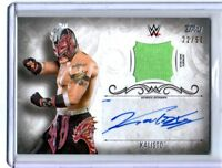 WWE Kalisto 2016 Topps Undisputed Silver Autograph Relic Card SN 22 of 50