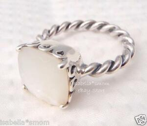 MOTHER OF PEARL Genuine PANDORA White ELEGANT SINCERITY RING 5/50 190828MP w BOX