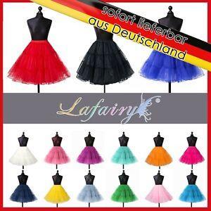 Petticoat Tüllrock Reifrock Tutu Damen Ballettrock Unterrock Gr.32 bis 58 20LF
