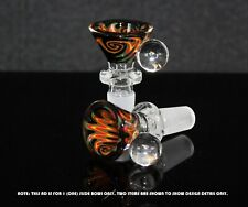 14mm NIGHT CRYSTAL WIG WAG Glass Slide Bowl Water Pipe Slide Bowl 14 mm male