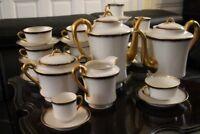 Service à thé café en porcelaine de Limoges signé HAVILAND cafetière tasses...