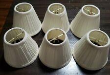 Small lamp shades set of 6 color natural clip