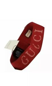 NEW Gucci Elastic Headband Unisex Red / Vanilla One Size fits All.