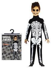Halloween Fancy Dress Party Costume Skeleton Boys Small Medium Large Jumpsuit