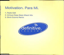 MOTIVATION Para Me 3TRX w/RADIO EDIT & 2 RARE REMIXES CD Single SEALD USA Seller