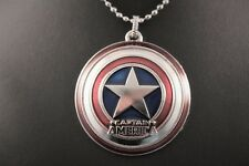 Marvel Captain America Shield Pendant Chain/Necklace w/Free Jewelry Box and Ship