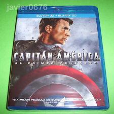 CAPITAN AMERICA EL PRIMER VENGADOR BLU-RAY 3D + BLU-RAY NUEVO Y PRECINTADO