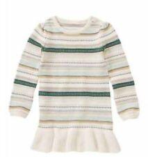NWT Gymboree ALL SPRUCED UP Size 4 Ruffle Hem Striped Sweater Girls Dress