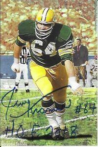 Jerry Kramer Green Bay Packers Autographed Goal Line Art Card