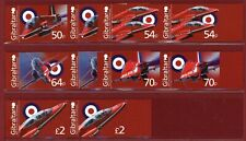 Gibraltar #1442-46, Imperf Proof, Pair, Royal Air Force, Red Arrow Planes