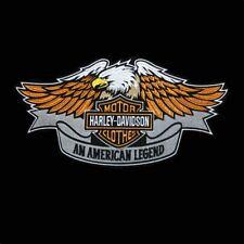 Harley Davidson Eagle Large Embroidered Motorcycle Biker Patch / Emblem / Badge