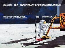 ST.VINCENT 1989 SPACE / MOON LANDING S/S SC#1210 MNH CV$6.50
