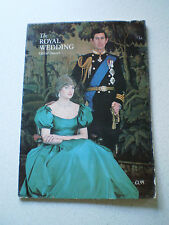 The Royal Wedding Princess Diana & Prince Charles Official Souvenir
