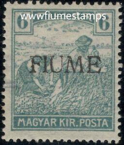 FIUME / CROATIA /  ITALY 1919.- Sassone 7/VI  HUGE RARITY  - 6.400,00 €  MNH**