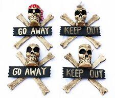 Skull Go Away or Keep out Skull Wood Skulls Totenkopfdeko Wooden Sign