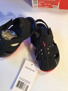 Nike Sunray Protect 2 toddler Girl's black/Pink shoes sandals water 943827 003
