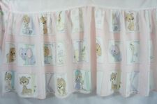 "Precious Moments Crib Skirt Dust Ruffle Pastel Alphabet Animals (Mini 37"" x 23"")"