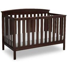 4 In 1 Convertible Crib Dark Chocolate Baby Toddler Beds Non Toxic Daybed Sturdy