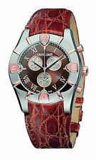 Roberto Cavalli R7251616055 Diamond Time Chronograph Date Crocodile Mens Watch