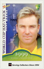 2007-08 Select Cricket Cards World Cup Hat Trick WSC13 Shane Warne