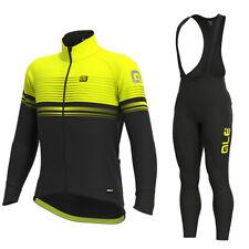 YQ585 New Cycling Winter Thermal Fleece 3D Design long sleeve jersey Bib Pants