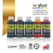 RIHAC 5 X 100ml refill ink for Canon CLI-651 PGI-650 cartridge refillable CISS