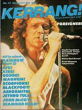 Foreigner on Magazine Cover 1982 Kerrang No: 15      Rainbow      Magnum