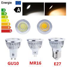 Ultra Bright MR16 GU10 E27 Dimmable COB LED Spots Light Globe Bulb 6W 9W 12W CA