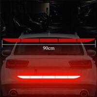 1X Car Reflective Warning Strip Tape Bumper Truck Safety Reflector Sticker Decal