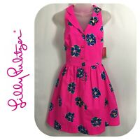 Lilly Pulitzer Sherlynn Mambo Pink Floral Summer A-Line Dress Size 4 NEW