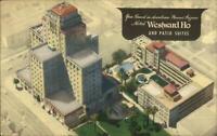 Phoenix AZ Westward Ho Hotel Linen Art Deco Postcard