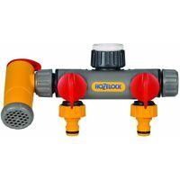 2 Way Tap Connector & Bypass Hozelock Flow Max 2250 Garden Water Splitter Hose