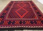 Afghan Hand Knotted Woven Maimana Ghulmori Wool Kilim Kilm Area Rug 10 x 7 FT